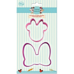 Set 2 cortadores de galletas metálicos en alta frecuencia (formas minnie mouse - disney -) bakery-STI-77803-Disney
