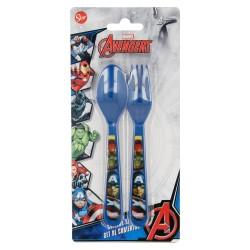 Set de 2 cubiertos picnic pp (cuchara y tenedor) avengers panels-STI-20383-Disney