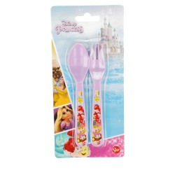Set de 2 cubiertos picnic pp (cuchara y tenedor) princesas disney forever-STI-29683-Disney