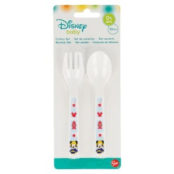 Set de 2 cucharas pp baby disney mickey mouse - disney - paint pot-STI-39866-Disney