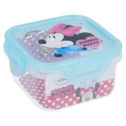 Recipiente cuadrado 290 ml | minnie mouse - disney - electric doll-STI-18876-Disney