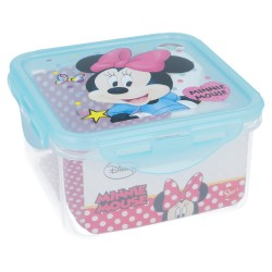 Recipiente cuadrado 730 ml | minnie mouse - disney - electric doll-STI-18865-Disney