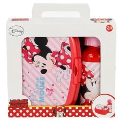 Set urban vuelta al cole 2 pcs. (botella aluminio 400 ml, sandwichera urban) minnie mouse - disney - elect-STI-18863-Disney
