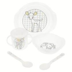 Set 5 pcs easy baby (cuenco micro easy, plato micro easy, taza entrenamiento easy y set 2 cucharas micro) l-STI-94765-Disney