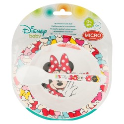 Set micro baby 2 pcs. (cuenco y cuchara) minnie mouse - disney - color bows-STI-45378-Disney