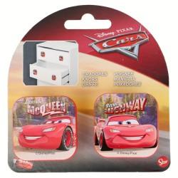 Set 2 uds. tiradores cuadrados plastico 4,5*4,5cm cars-STI-14772-Disney