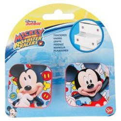 Set 2 uds. tiradores cuadrados plástico 4,5*4,5cm mickey mouse - disney-STI-14812-Disney