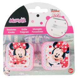 Set 2 uds. tiradores cuadrados plástico 4,5*4,5cm minnie mouse - disney-STI-14843-Disney