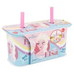 Set 2 pcs vaso caña yogur 190 ml | frozen daily use-STI-4927-Disney