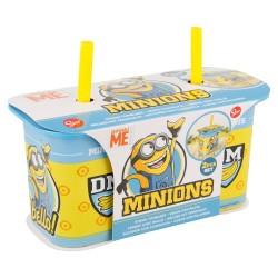 Set 2 pcs vaso caña yogur 190 ml | minions daily use-STI-4937-Disney