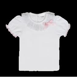 Camiseta m/ corta cuello puntilla + lazo-LII-MN7231.1-2-Minhon