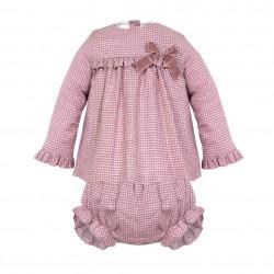 Vestido bebe c/ cubre pañal-LII-MN8280-Minhon