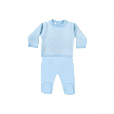 Conjunto 2 piezas bebe ( jersey + pantalon) bicolor-LII-MN5131-3-Minhon