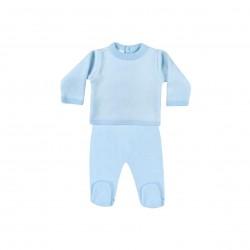 Conjunto 2 piezas bebe ( jersey + pantalon) bicolor-LII-MN5131-Minhon