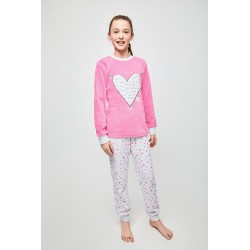 Pijama niña tundosado i love you-TAI-20228301 22-TOBOGAN