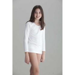 Camiseta interior niña afelpada m/l-ALM-7010-Punt Nou Sport