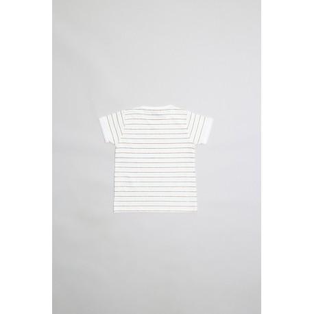 Camiseta niña algodón manga corta detalles glitter aqua-ALM-20515-Street Monkey