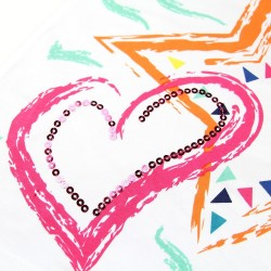 Camiseta niña corazon y estrella-ALM-710121-Street Monkey