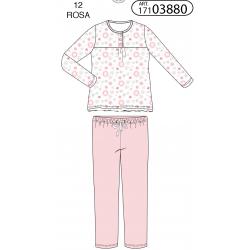 Pijama largo niña flowers-ALM-17103880-Tobogan