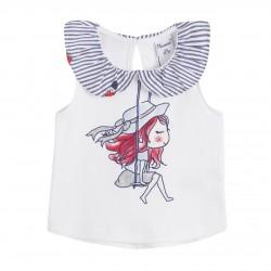 Camiseta cuello tejido rayas-ALM-BGV69520-Newness
