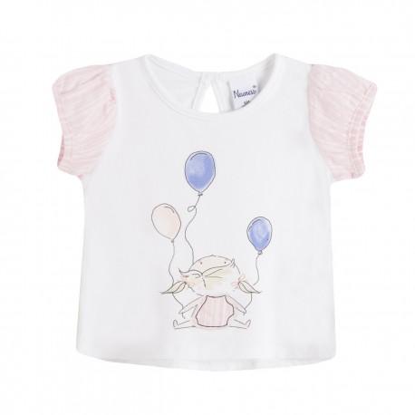 Comprar ropa de niño online Camiseta niña sentada con