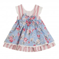 Vestido de fiesta con braguita con detalles de flores-ALM-BGV90509-Newness
