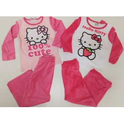 Pijama largo chica- VELOUR- HELLO KITTY-TMBB-86004