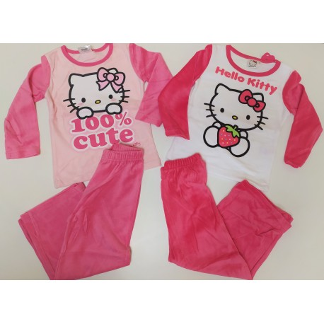 Pijama largo chica- VELOUR- HELLO KITTY-TMBB-86004