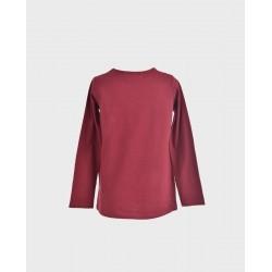 Camiseta basica burdeos-LOI-1011074805-La Ormiga