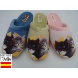 Zapatillas de casa chica gatitos destalonadas - PULIDINES - ARI-400-31