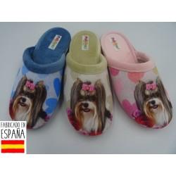 Zapatillas de casa chica perritos destalonadas - PULIDINES - ARI-400-31-1