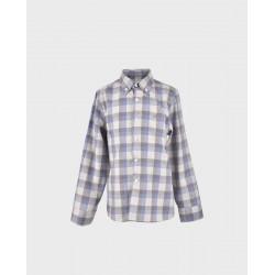 Camisa niño cuadros celestes/ beige col. 23-LOI-1012180901-1-La