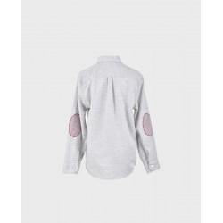 Camisa niño gris lunar rosa coderas pata de gallo col. 26-LOI-1012072901-1-La Ormiga