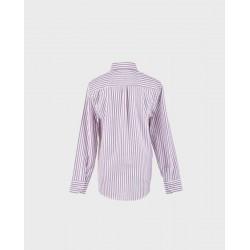 Camisa niño rayas blancas/ burdeos col. 19-LOI-1012120301-1-La Ormiga
