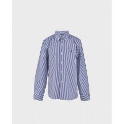 Camisa niño rayas blancas/ marino-LOI-1012130301-La Ormiga