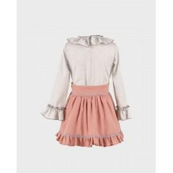 Conjunto niña blusa y falda-LOI-1010283020-1-La Ormiga