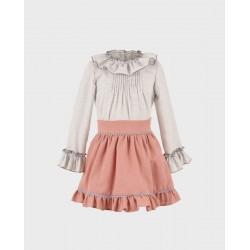 Conjunto niña blusa y falda-LOI-1010283020-La Ormiga