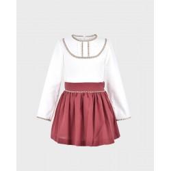 Conjunto niña blusa y falda-LOI-1010294820-La Ormiga