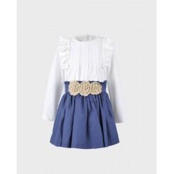 Conjunto niña blusa y falda-LOI-1010272320-La Ormiga