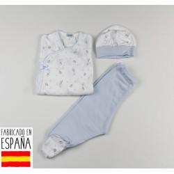 Conjunto 3 piezas algodón body, polainas y gorro-TBI-21671A-Tony Bambino