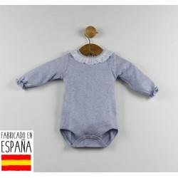 Body manga larga cuello volante puño elástico-TBI-21761A-Tony Bambino