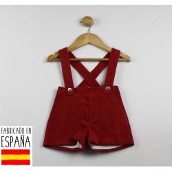 Pantalones micropana cortos con tirantes--TBI-21404R-Tony Bambino