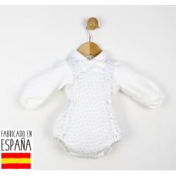 Conjunto jesusito tirantes y camisa cuello bebe-TBI-21358-Tony Bambino