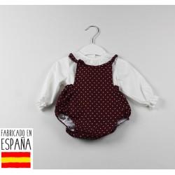 Conjunto camisa cuello volante y ranita-TBI-21371V-Tony Bambino