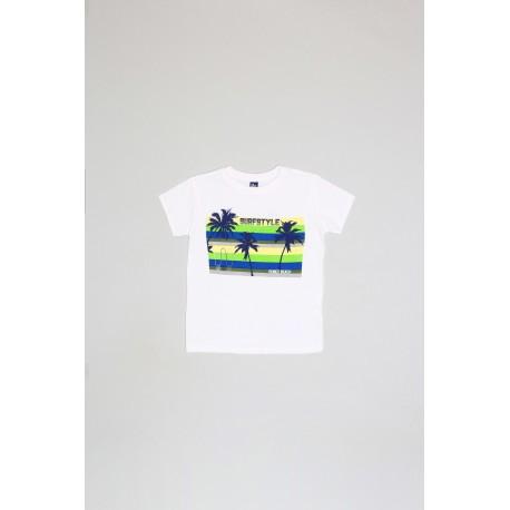 Camiseta mc niño blanca-ALM-20469-Street Monkey