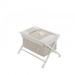 Minicuna +textil madera blanca mod nature- dimensiones (55 x 90 x 72 cm)--IBI-91772-Interbaby