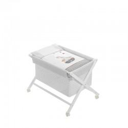 Minicuna +textil madera blanca mod pirata-dimensiones (55 x 90 x 72 cm)-IBI-91922-01-Interbaby