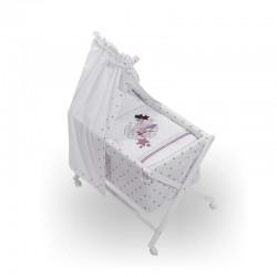 Minicuna bco+textil+dosel mod amorosos- dimensiones (55 x 90 x 72 cm)-IBI-92266-Interbaby