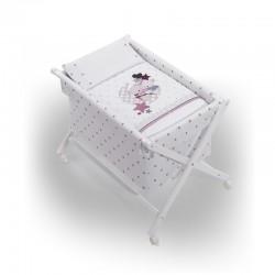 Minicuna +textil mad bca mod amorosos- dimensiones ( 55 x 90 x 72 cm)-IBI-92272-Interbaby