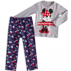 Pijama largo niña algodón-SCI-HS2087-MINNIE
